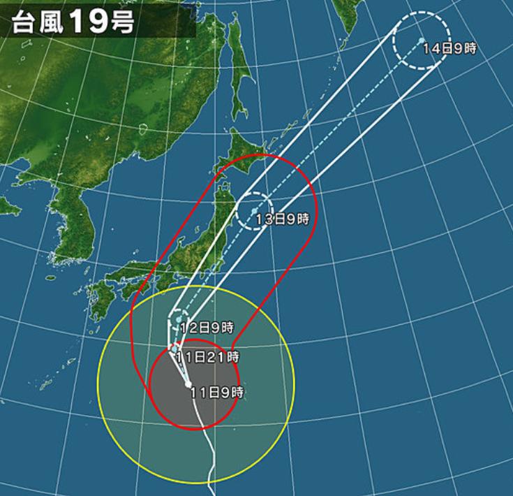 【激甚災害】2019年 台風19号による被害 - 台風19号の進路